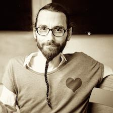 A developer with a heart and a beard